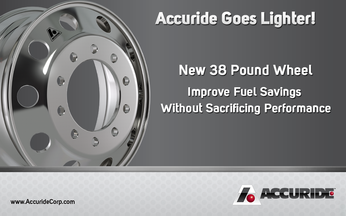 Accuride Goes Lighter - announces 38 lb wheel